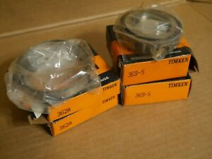 2 New Timken 369 s Tapered Roller Bearings 362a Race Two Of Each
