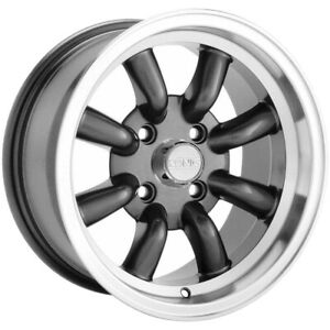 4 Konig 35a Rewind 15x7 4x100 40mm Graphite Wheels Rims 15 Inch
