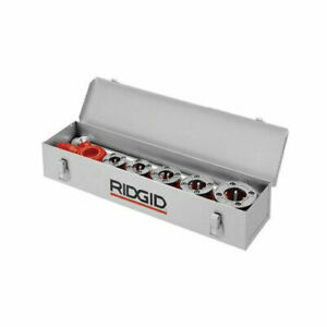 Ridgid 38625 25 7 8 x 5 x 6 1 2 12r Threader 6 Die Heads Metal Carrying Case