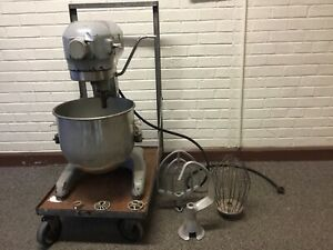 Hobart Commercial Mixer A 200 With Bowl Attachments From A Small Town School