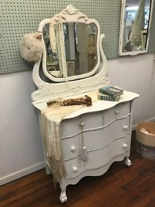 Shabby Chic Style Dresser With Mirror Distressed