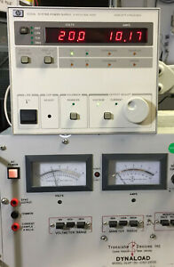 Hp Agilent 6033a System Dc Power Supply 0 20v 0 30a 200w Load Tested