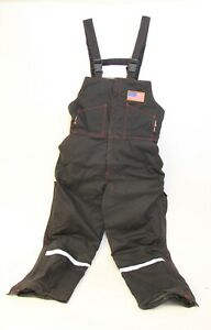 Blazetex Flame Resistant Fr Insulated Welding Overall Bib L Black W Usa Flagq