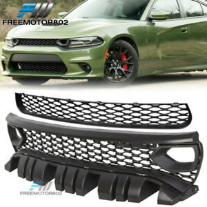 Fits 15 19 Dodge Charger Srt Style Upper Lower Grille W Air Ducts 2pc Pp