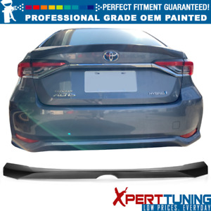 Fits 20 Toyota Corolla 12th Altis Sedan Abs Trunk Spoiler Oem Painted Color