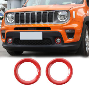 Front Fog Light Cover For Jeep Renegade 2018 Exterior Accessories Carbon Fiber