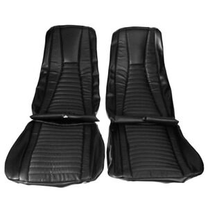 1971 1972 1973 Ford Mustang Mach 1 Coupe Black Front Rear Seat Covers 69054