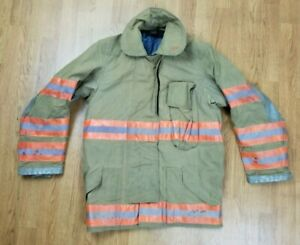 Vintage Globe Firefighter Bunker Turnout Jacket 40 Chest X 32 Length 1994