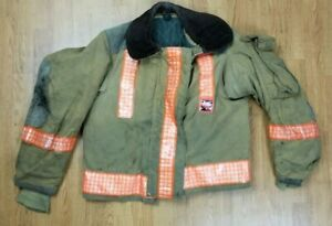 Vintage Globe Firefighter Bunker Turnout Jacket 40 Chest X 26 Length 1988