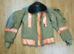 Vintage Globe Firefighter Bunker Turnout Jacket 32 Chest X 26 Length 1988
