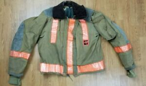 Vintage Globe Firefighter Bunker Turnout Jacket 42 Chest X 26 Length 1988