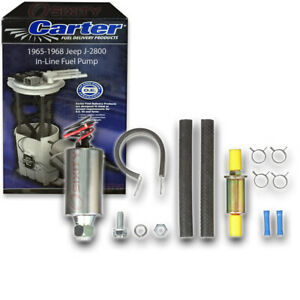 Carter In line Fuel Pump For 1965 1968 Jeep J 2800 5 3l V8 Electric Inline Uh