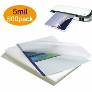 5 Mil Premium Letter Size A4 Sheets Laminating Pouches 9 X 11 5 In 500 Pack