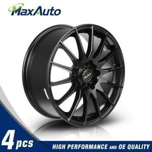 4pcs 17x7 Wheel 45 Offset 5x100 5x114 3 Rims For Ford Mustang For Jeep Liberty