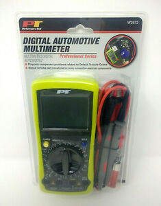 Performance Tool W2972 Digital Automotive Multimeter Overload Protection