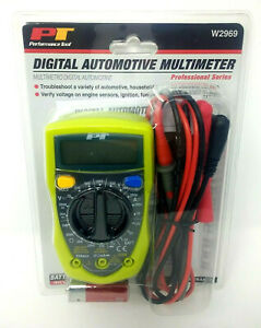 Performance Tool Automotive Multimeters Lcd Display Green W2969
