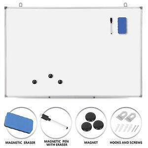 Magnetic Whiteboard 36 X 24 Inch White Board Wall Hanging Board With Eraser