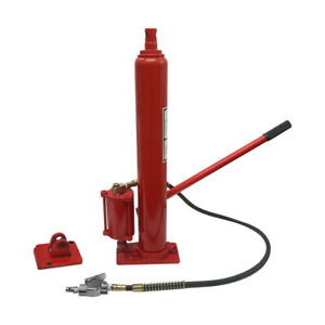 8 Ton Air Hydraulic Long Ram Jack With Bottom Adapter Plate