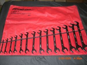 Snap On Tools 14 Pc Sae 4 Way Double Angle Wrench Set 3 8 1 1 4 Vs814a