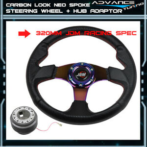 For Golf 320mm 6 Bolts Racing Steering Wheel Neo Spoke Horn Hub Adaptor