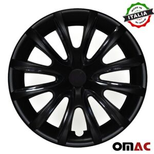 16 Inch Hubcaps Wheel Rim Cover Black With Black For Honda Civic 4pcs Set