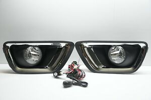 For 2015 2016 Chevy Colorado Chrome Fog Lights Lamps With Bezel Switch Bulbs