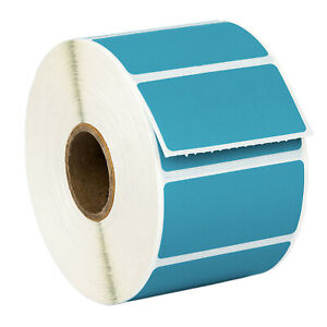 Zebra Eltron 2x1 Color 2 X 1 Blue Direct Thermal Labels 1 Roll Of 1300