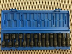 Gp 1598hc 1 2 Drive 18 Piece Sae metric Combo Impact Hex Driver Socket Set