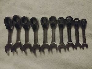 Blue Point 10pc Metric Short Offset Ratcheting Box Open End Wrench 12pt