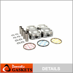 Pistons And Rings Fit 06 10 Subaru Legacy Forester Outback 2 5 Sohc Ej253