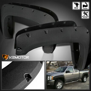 For Rugged Texture 2007 2013 Chevy Silverado 1500 2500hd Rivet Fender Flares