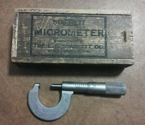 Starrett Micrometer No 209 In Original Box Usa Made