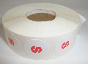 1000 S Size Self adhesive Labels 3 4 Stickers Tags Retail Store Supplies