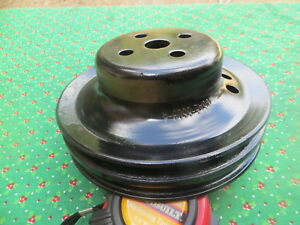 Ford Water Pump Pulley 2 Groove C6ae 8509 A Power Steering 289 302 390 428