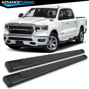 Fits 19 Dodge Ram 1500 Crew Cab Oe Style Black Side Rails Running Boards