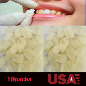 10 Pack Dental Temporary Crown Patch Porcelain Front Anterior Teeth Tooth Cover