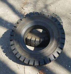 Qty 2 Solid Press on Forklift Tire 7 50 X 16 X 5 5 Itl Brand New Old Stock