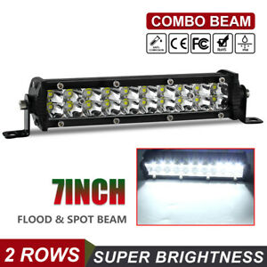 7 Inch Led Work Light Bar Flood Offroad Atv Fog Truck Lamp 4wd 12v 6 8 10