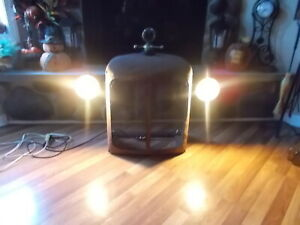 1930 S Vintage Grill Collectible Lamp With Monometer Gauge Mancave Must Have