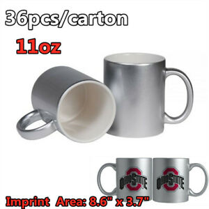 11oz Blank Metallic Silver Sublimation Mug Transfer Printing With Orca Coating