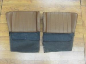 Original Porsche 356 C Sc Rear Seat Tops Upper Pair