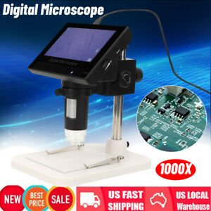 1000x Electronic Lcd 4 3 14mp Video Microscope Magnifier Camera For Pc Computer