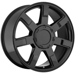 4 Replica 122 Escalade 22x9 6x5 5 31mm Gloss Black Wheels Rims 22 Inch