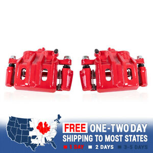 Front Red Brake Calipers Pair For 2002 2003 2004 2005 Infiniti G35 Nissan 350z