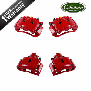 For 2006 2007 2008 Dodge Ram 1500 2wd 4x4 4wd Front And Rear Red Brake Calipers