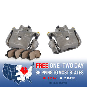 Front Oe Brake Calipers Pads For 2002 2003 2004 2005 Infiniti G35 Nissan 350z