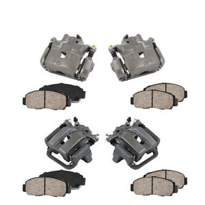 Front And Rear Oe Brake Calipers Pads For 2002 2005 Infiniti G35 Nissan 350z