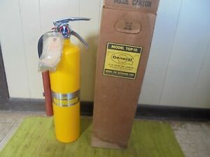 General Fire Extinguisher Yellow Original Box W mounting Bracket 10 Lb