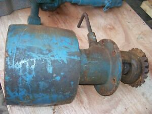 Vintage Fordson Major Diesel Tractor belt Pulley Drive as Is 1954