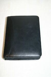 Franklin Covey 100 Full grain Aniline Leather Black 6 Ring Compact Planner